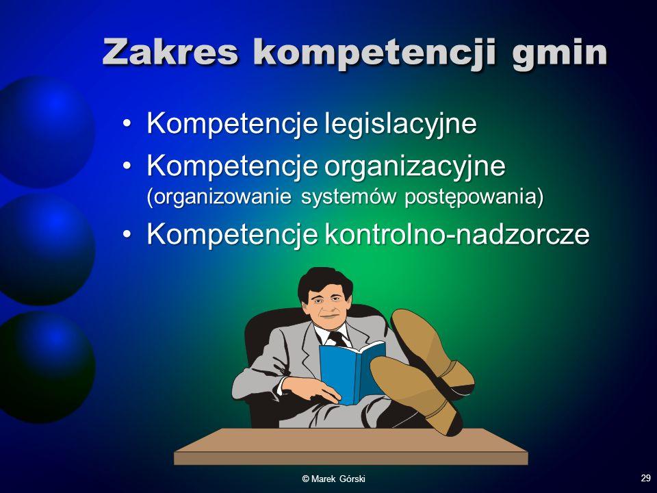 Zakres kompetencji gmin