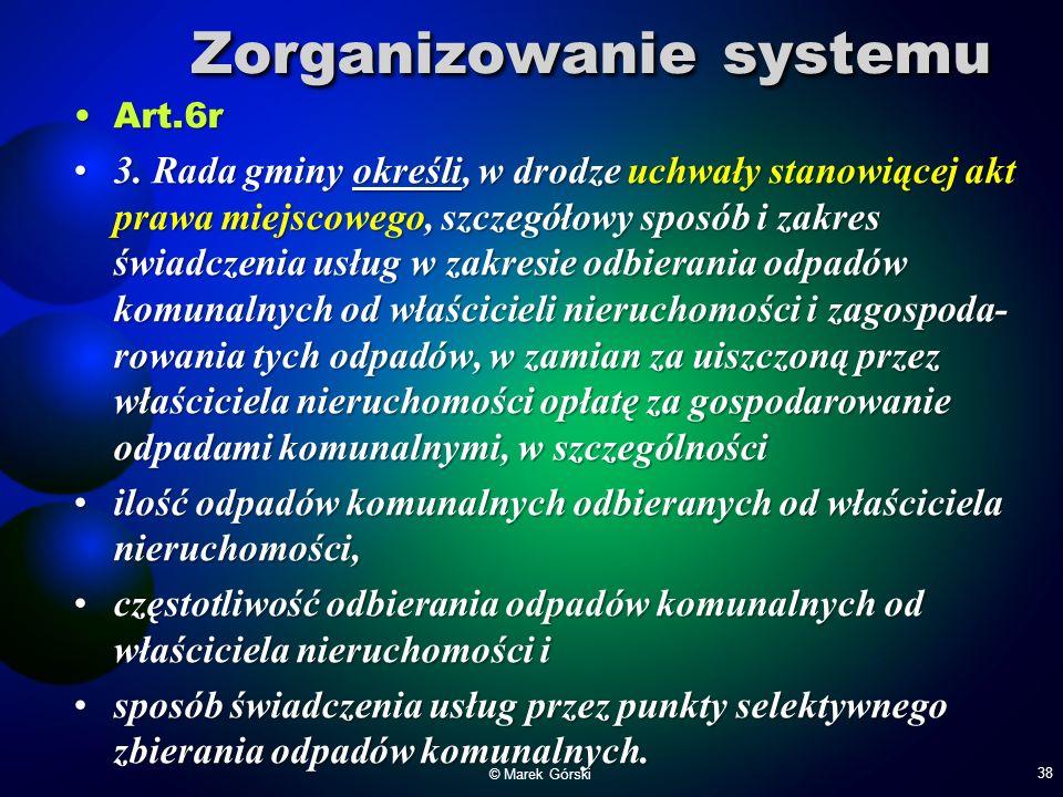 Zorganizowanie systemu