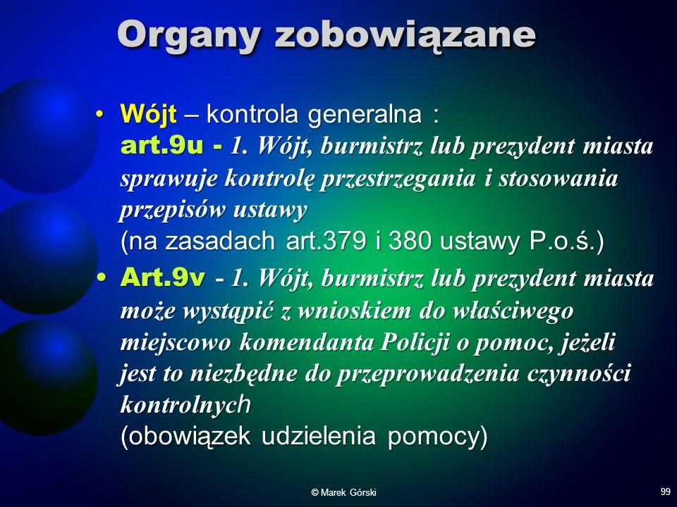 Organy zobowiązane