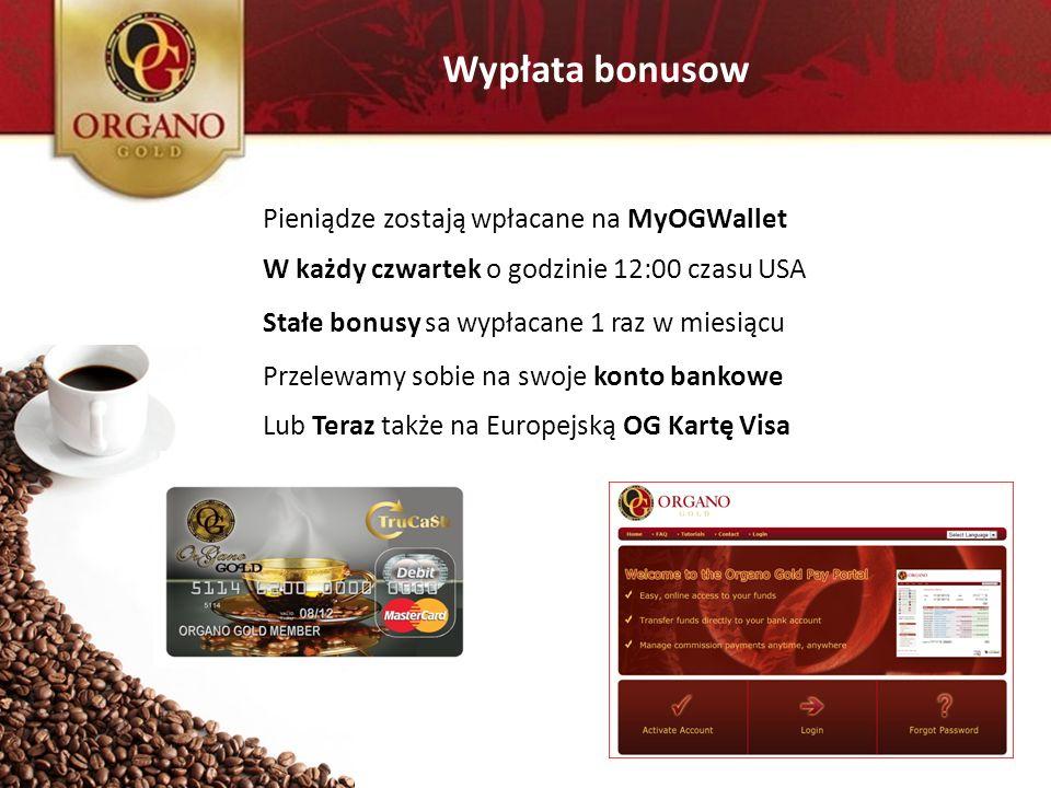 Wypłata bonusow Pieniądze zostają wpłacane na MyOGWallet