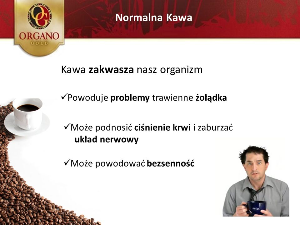 Kawa zakwasza nasz organizm