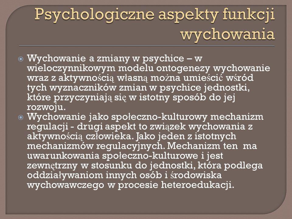 Psychologiczne aspekty funkcji wychowania