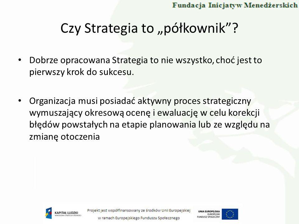 """Czy Strategia to """"półkownik"""