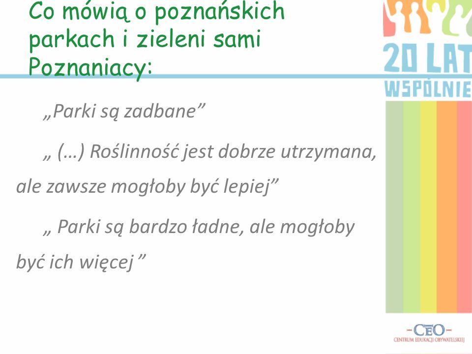 Co mówią o poznańskich parkach i zieleni sami Poznaniacy: