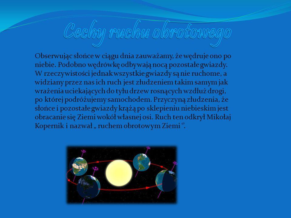 Cechy ruchu obrotowego