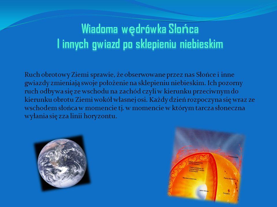 Wiadoma wędrówka Słońca I innych gwiazd po sklepieniu niebieskim