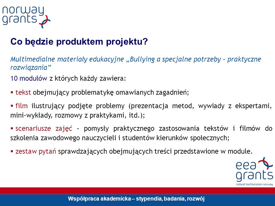 Co będzie produktem projektu