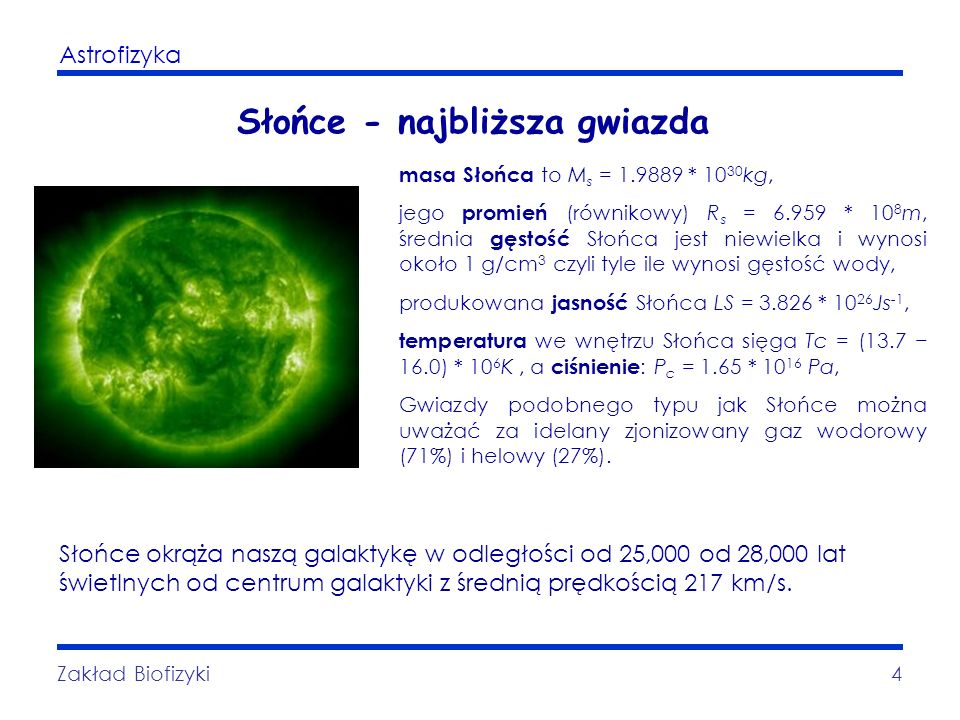 Słońce - najbliższa gwiazda