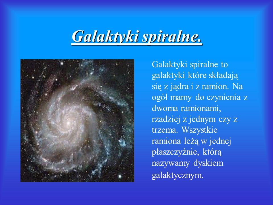 Galaktyki spiralne.