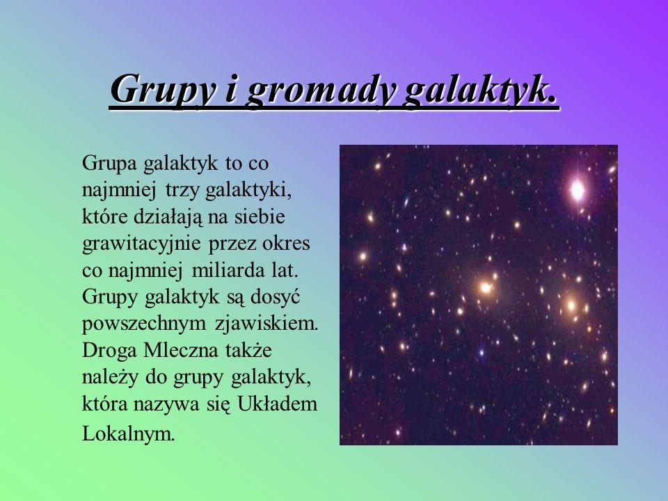 Grupy i gromady galaktyk.