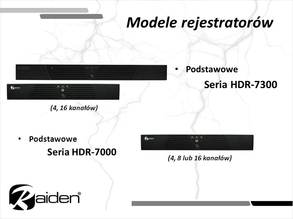 Modele rejestratorów Podstawowe Seria HDR-7300 Podstawowe