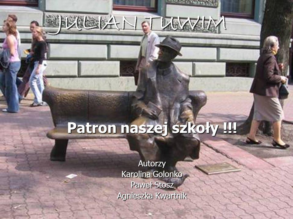 JULIAN TUWIM Patron naszej szkoły !!! Autorzy Karolina Golonko
