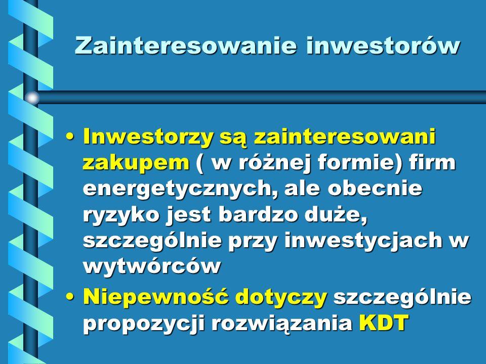 Zainteresowanie inwestorów
