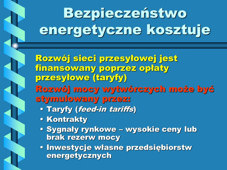 Bezpieczeństwo energetyczne kosztuje