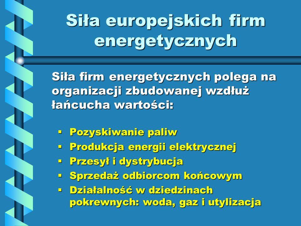 Siła europejskich firm energetycznych