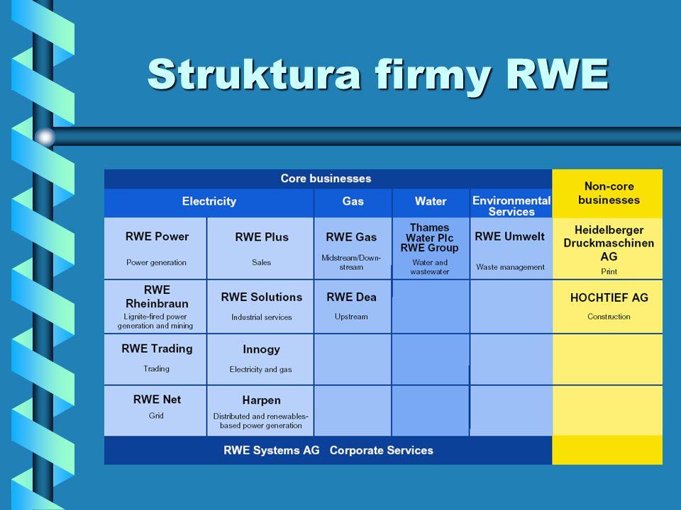 Struktura firmy RWE