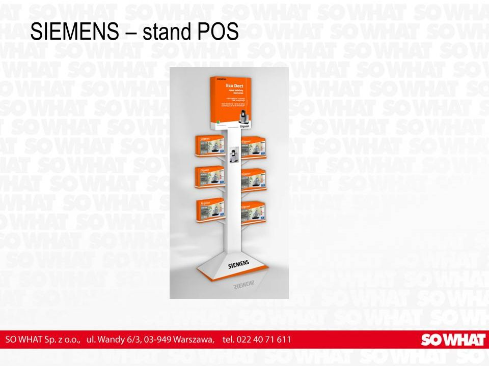 SIEMENS – stand POS
