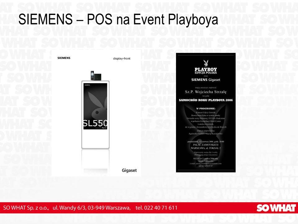 SIEMENS – POS na Event Playboya