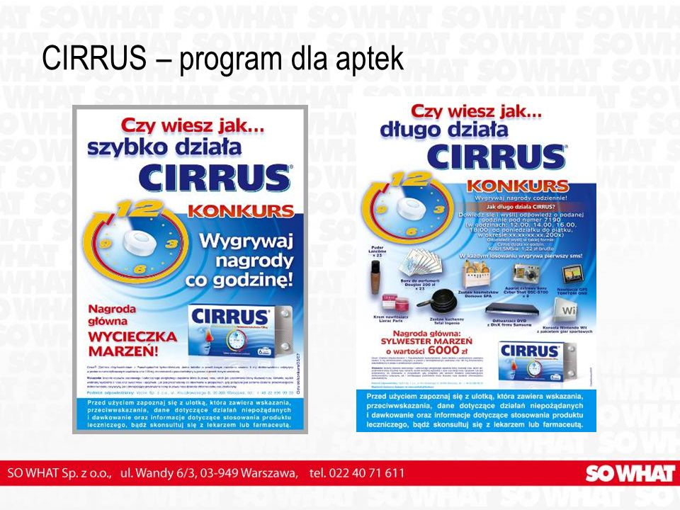 CIRRUS – program dla aptek