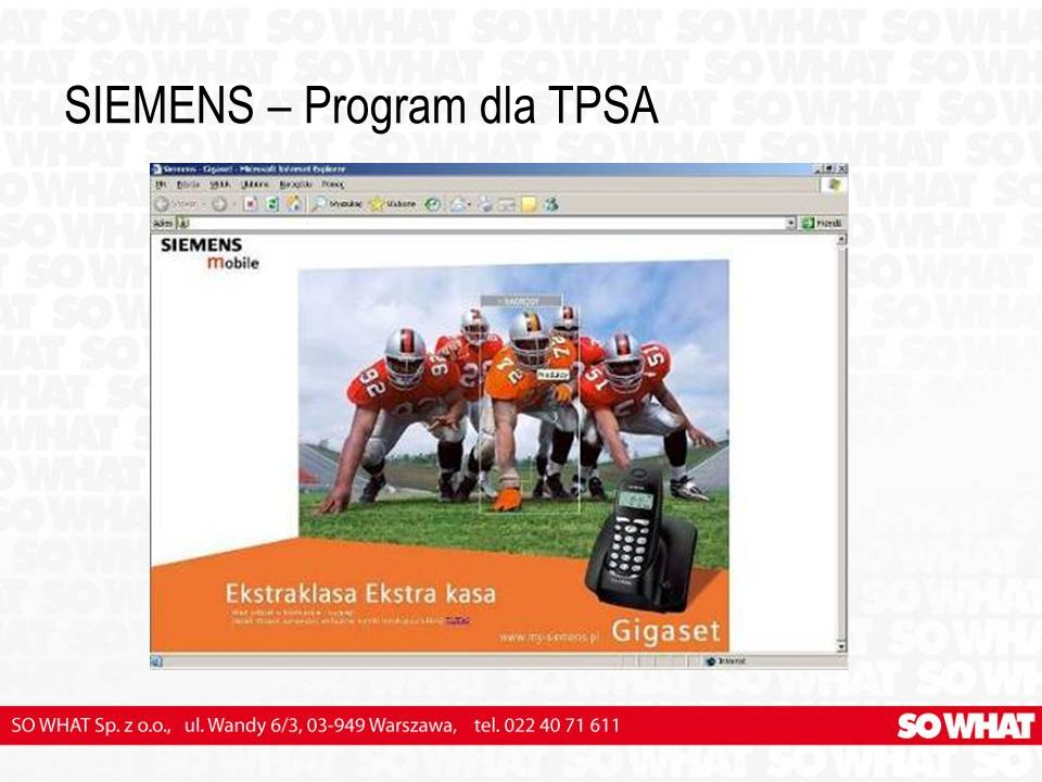 SIEMENS – Program dla TPSA