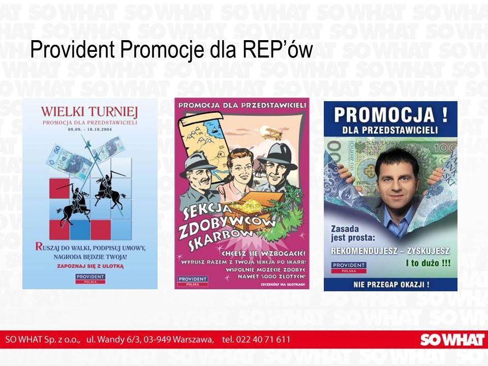 Provident Promocje dla REP'ów