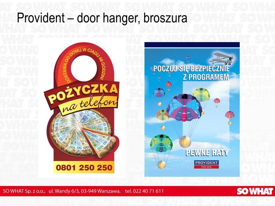 Provident – door hanger, broszura
