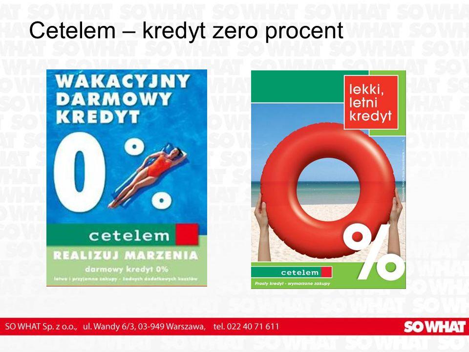 Cetelem – kredyt zero procent