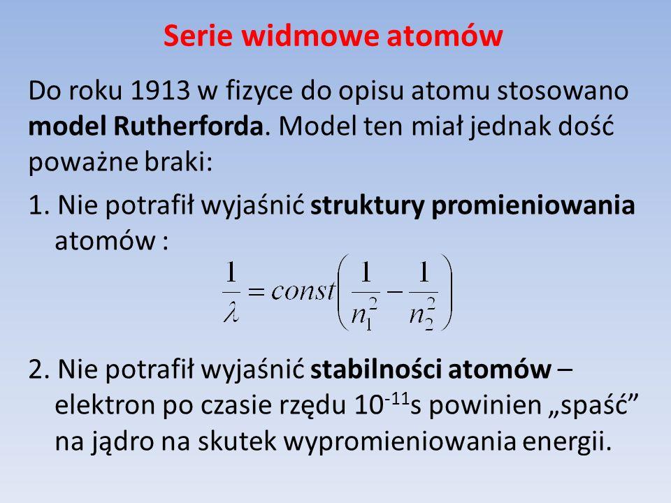 Serie widmowe atomów