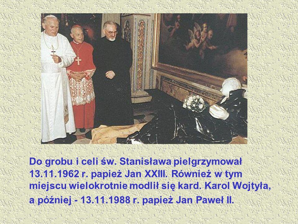 Do grobu i celi św. Stanisława pielgrzymował 13. 11. 1962 r