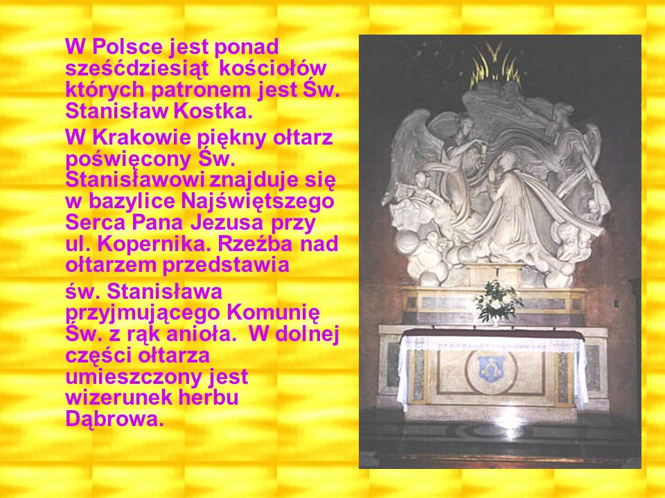 W Polsce jest ponad sześćdziesiąt kościołów których patronem jest Św