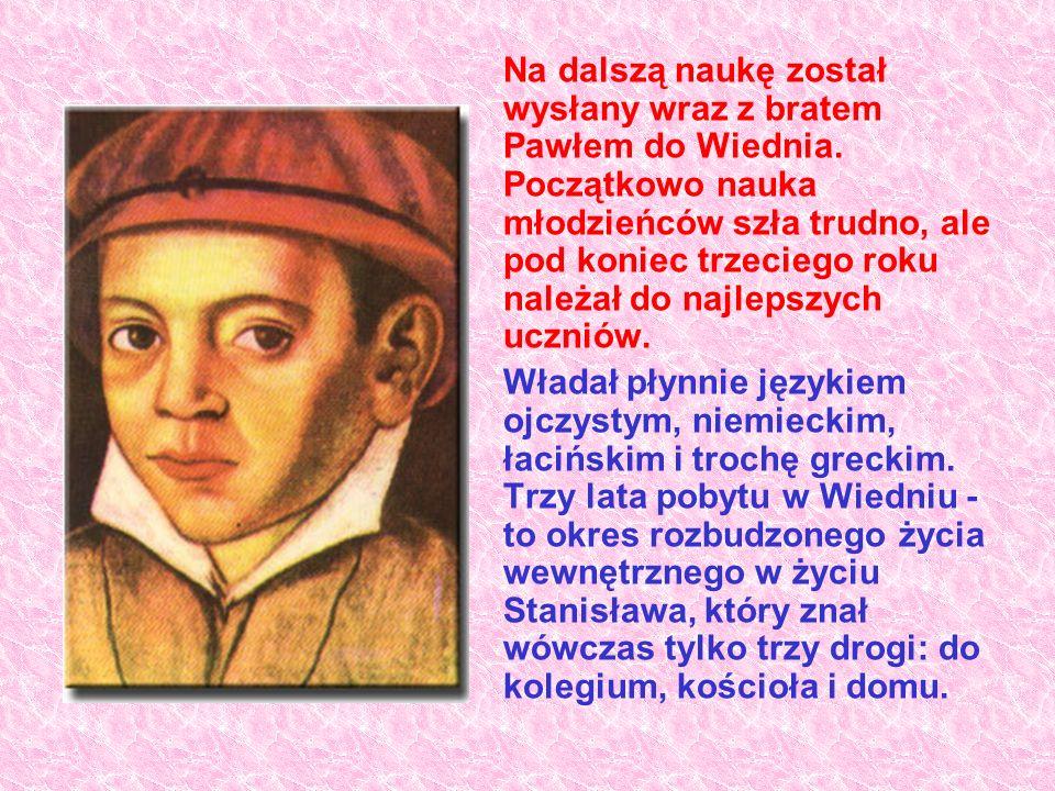 Na dalszą naukę został wysłany wraz z bratem Pawłem do Wiednia