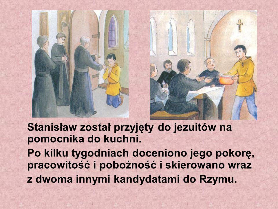 Stanisław został przyjęty do jezuitów na pomocnika do kuchni.