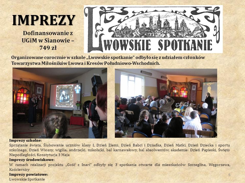 Dofinansowanie z UGiM w Sianowie – 749 zł