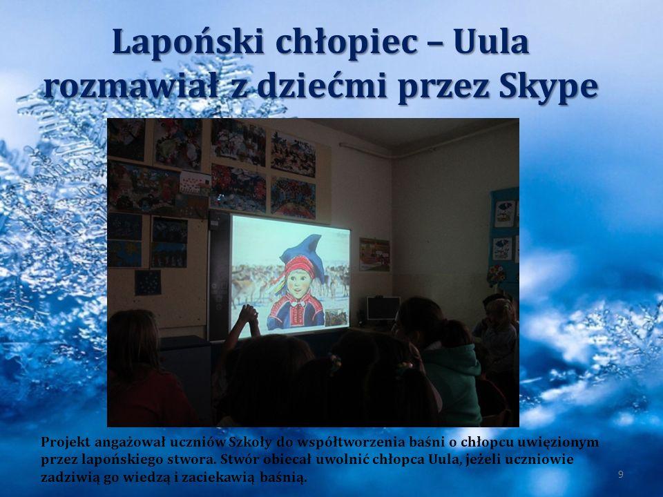 Lapoński chłopiec – Uula rozmawiał z dziećmi przez Skype