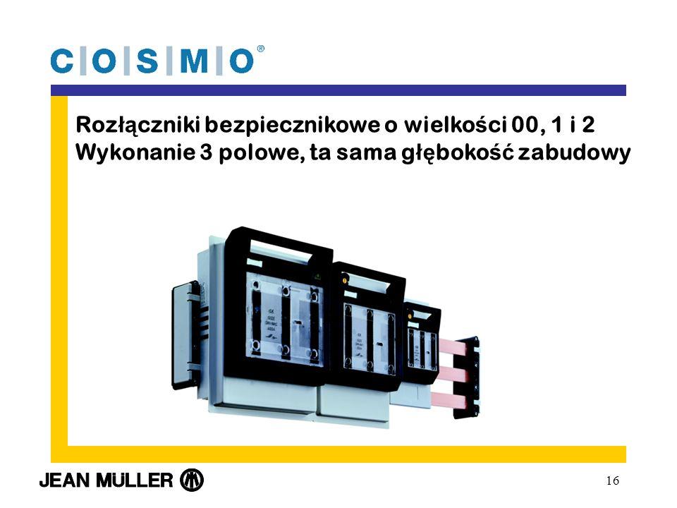 Rozłączniki bezpiecznikowe o wielkości 00, 1 i 2