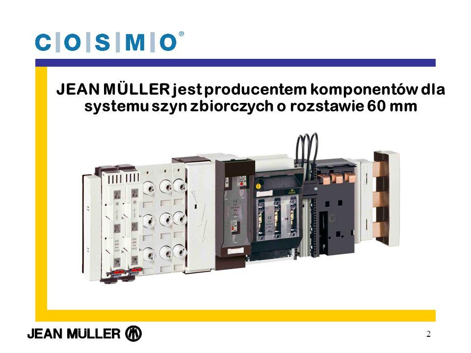 JEAN MÜLLER jest producentem komponentów dla systemu szyn zbiorczych o rozstawie 60 mm