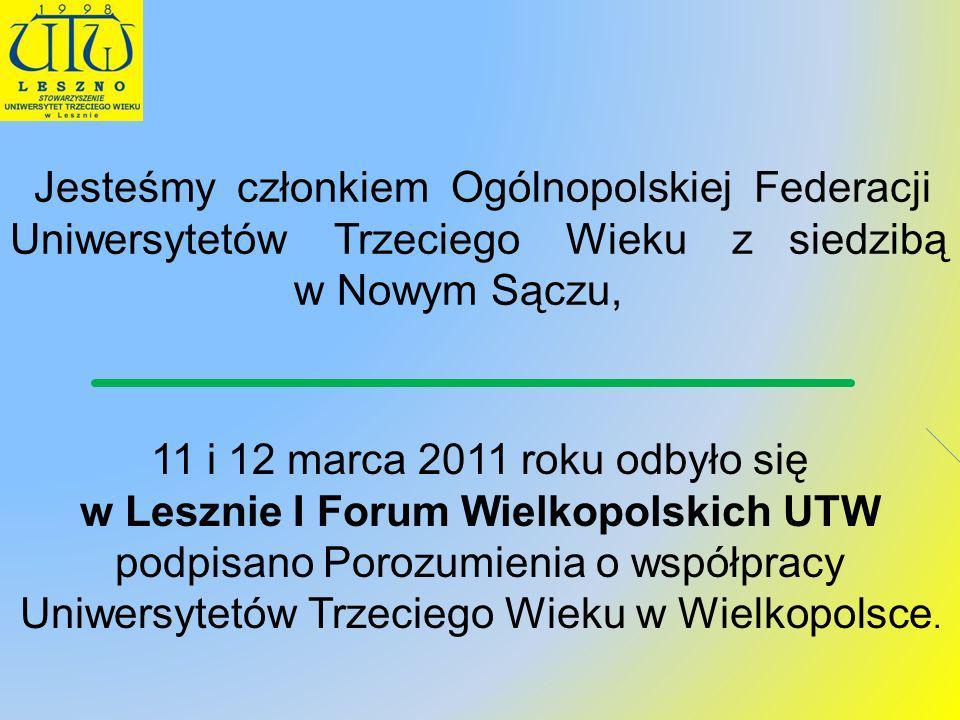 Jesteśmy członkiem Ogólnopolskiej Federacji Uniwersytetów Trzeciego Wieku z siedzibą