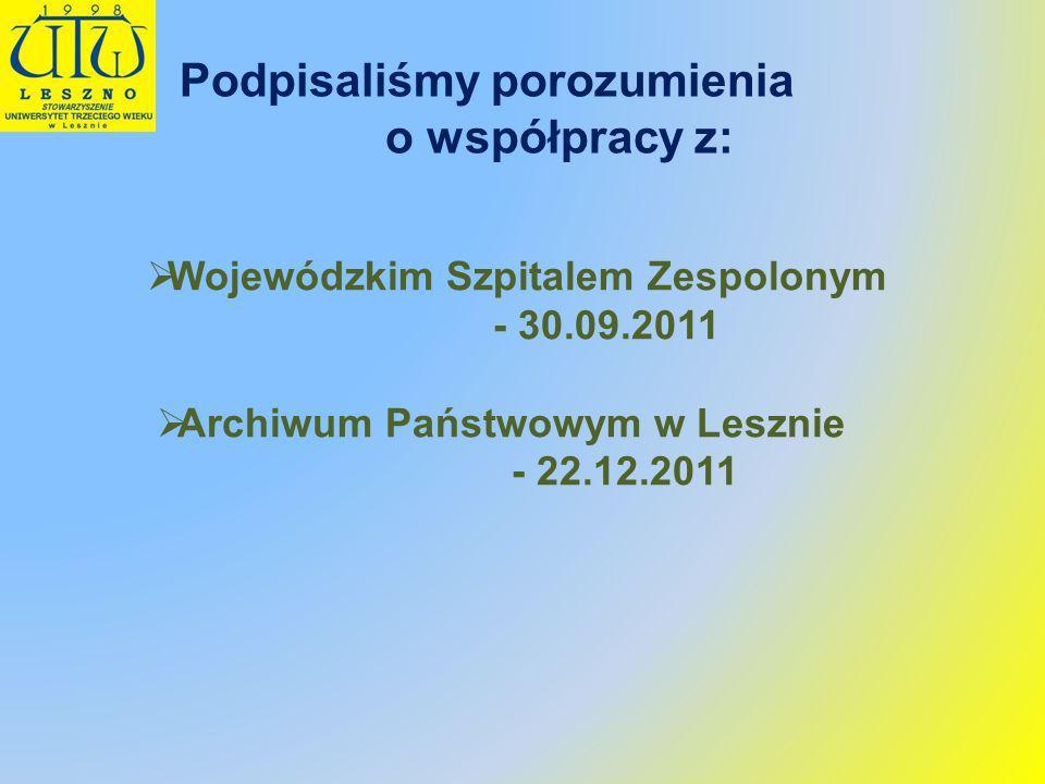 Wojewódzkim Szpitalem Zespolonym Archiwum Państwowym w Lesznie
