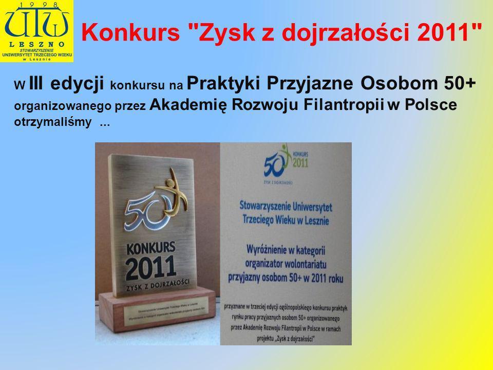 Konkurs Zysk z dojrzałości 2011