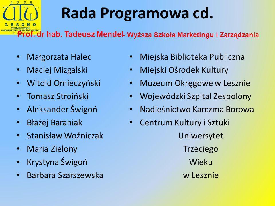 Prof. dr hab. Tadeusz Mendel