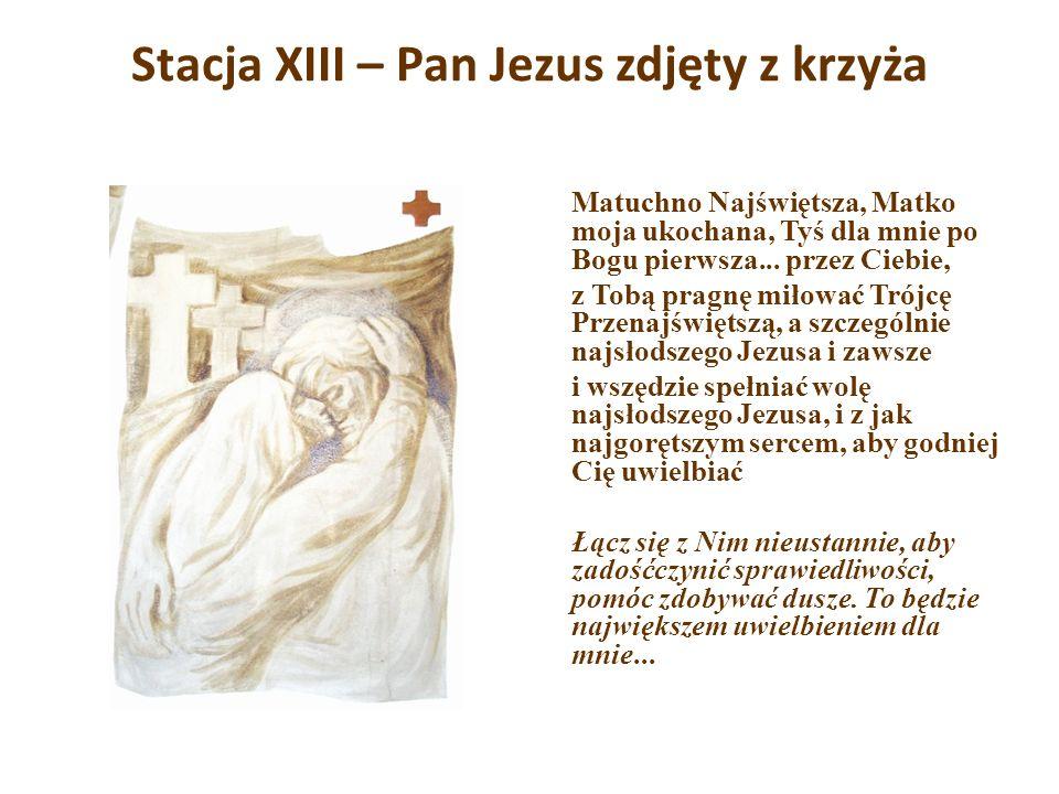 Stacja XIII – Pan Jezus zdjęty z krzyża