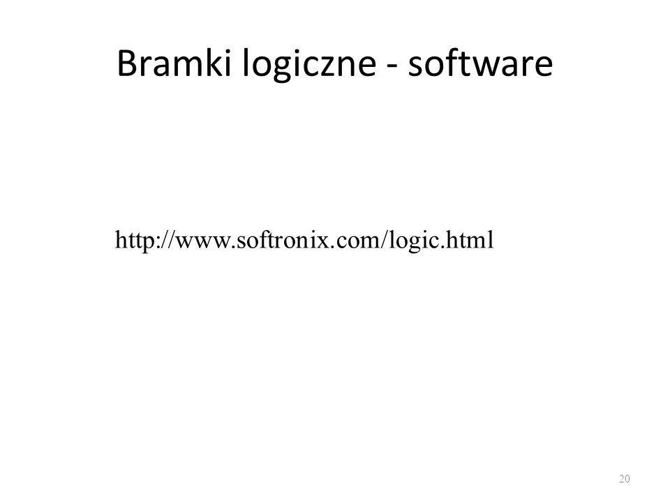 Bramki logiczne - software