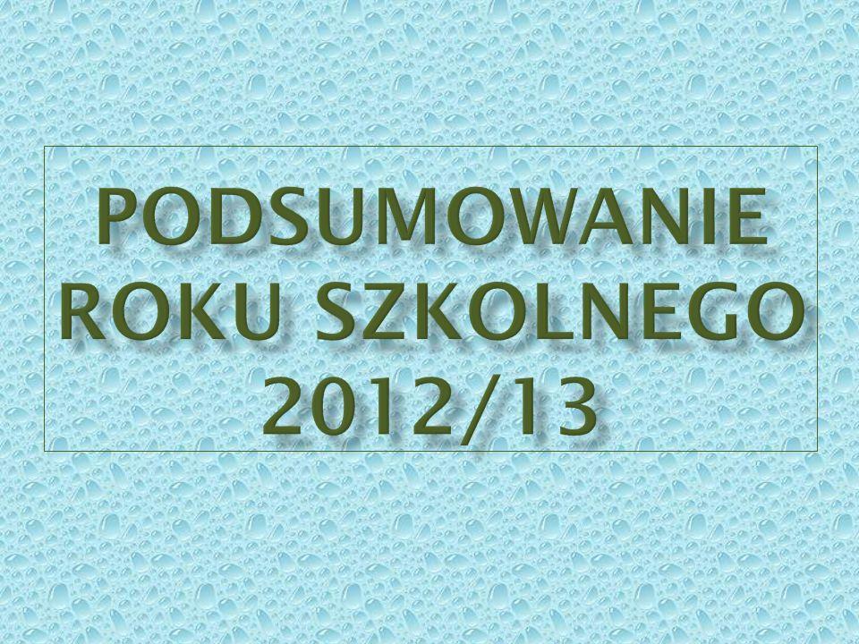 Podsumowanie roku szkolnego 2012/13