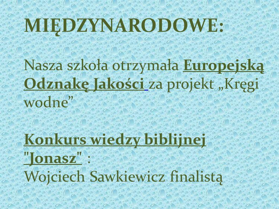 MIĘDZYNARODOWE: Nasza szkoła otrzymała Europejską