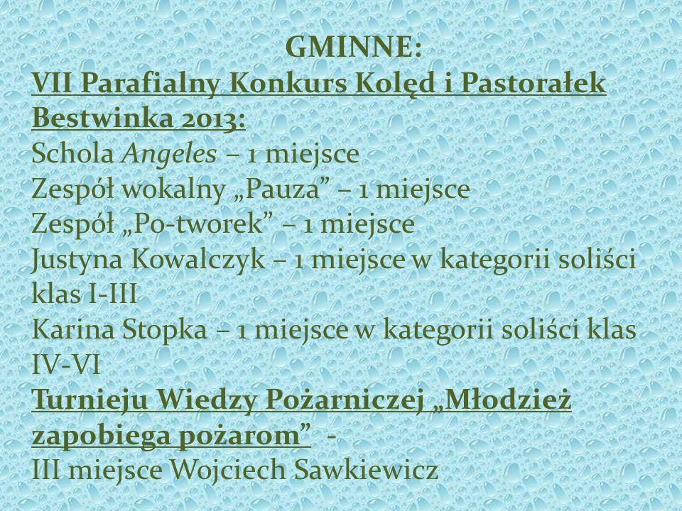 GMINNE: VII Parafialny Konkurs Kolęd i Pastorałek Bestwinka 2013: