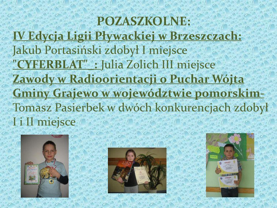 POZASZKOLNE: IV Edycja Ligii Pływackiej w Brzeszczach: