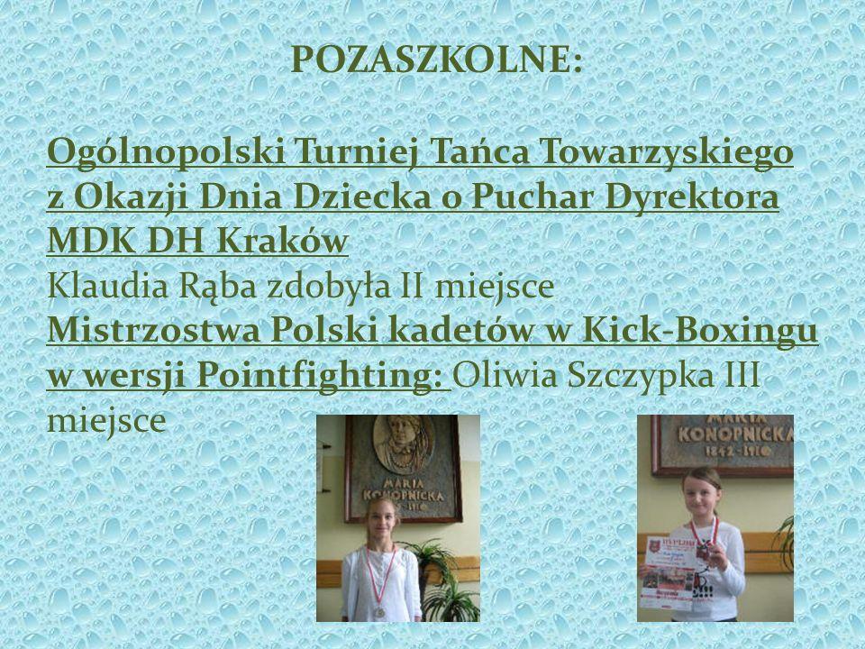 POZASZKOLNE: Ogólnopolski Turniej Tańca Towarzyskiego