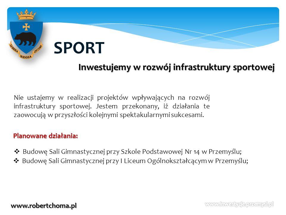 SPORT Inwestujemy w rozwój infrastruktury sportowej