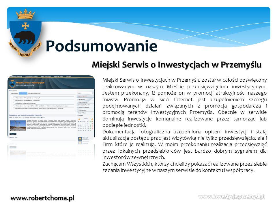 Podsumowanie Miejski Serwis o Inwestycjach w Przemyślu
