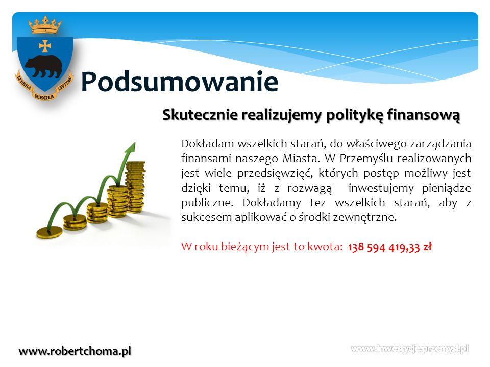 Podsumowanie Skutecznie realizujemy politykę finansową